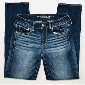 AEO SUPER STRETCH Straight Blue Faded Jeans SZ4